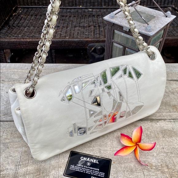 CHANEL Handbags - Authentic Chanel Runway Whites/Silver  Bag Rare!